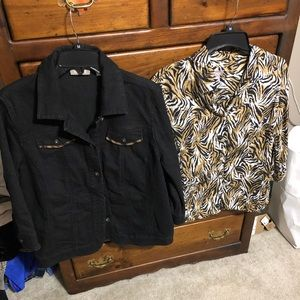 Women's Chico's Jacket and Blouse